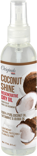 Coconut Shine Coconut and Vitamin E Regenerative Dry Oil